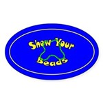 Show Your Beads Oval Sticker (10 pk)