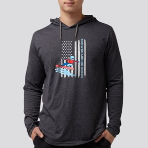 Snowboarding Rocks Distressed Long Sleeve T-Shirt
