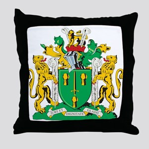 Cheshire County Coat of Arms Throw Pillow