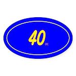 40 oz. Oval Sticker