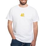 40 oz. White T-Shirt