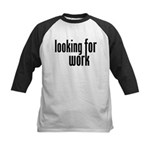 Looking for Work Kids Baseball Jersey
