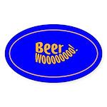 Beer Woooo! Oval Sticker (50 pk)