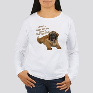 leonberger puppy wag Women's Long Sleeve T-Shirt