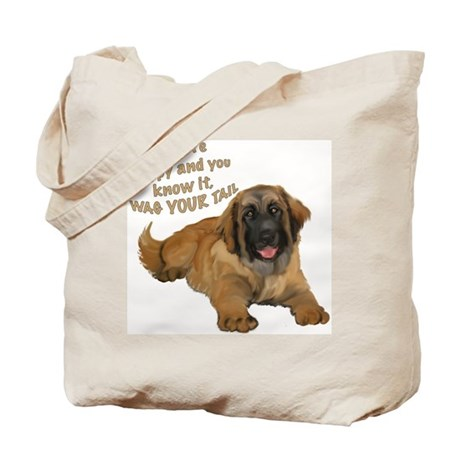 leonberger puppy wag Tote Bag