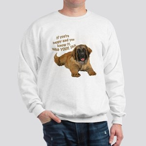 leonberger puppy wag Sweatshirt