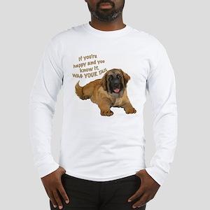 leonberger puppy wag Long Sleeve T-Shirt