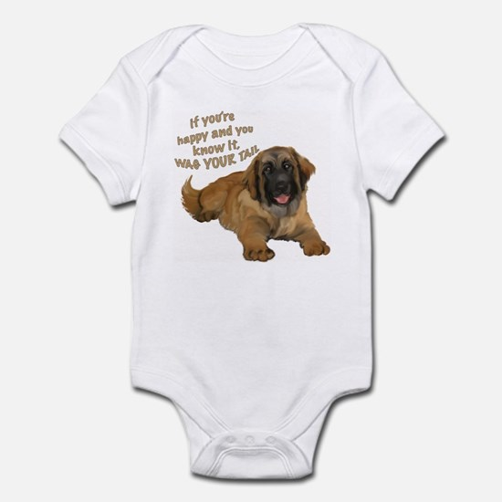 leonberger puppy wag Infant Bodysuit