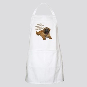 leonberger puppy wag BBQ Apron