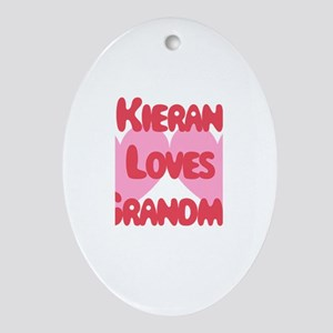 Kieran Loves Grandma Oval Ornament