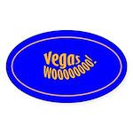 Vegas Wooooo! Oval Sticker (50 pk)
