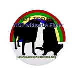 """CanineCancerAwareness 3.5"""" Button"""