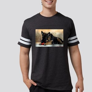 German Shepherd Puppy with Red Ball T-Shirt