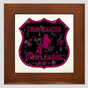 Swing Dancer Diva League Framed Tile