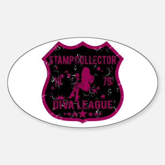 Stamp Collector Diva League Oval Decal