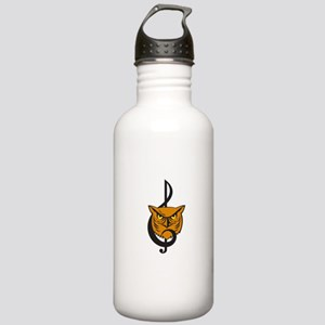 Great Horned Owl Head Musical Note Water Bottle