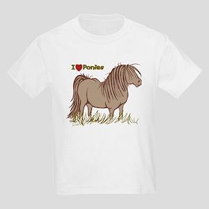 I Love Ponies Kids Light T-Shirt