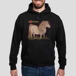 I Love Ponies Hoodie (dark)