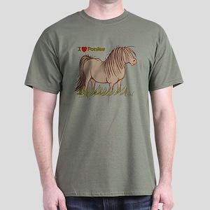 I Love Ponies Dark T-Shirt