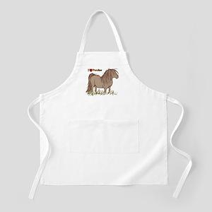 I Love Ponies BBQ Apron