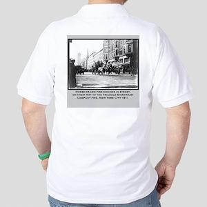Vintage Photo of NYC Fire Brigade 1911 Golf Shirt
