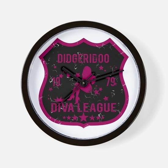Didgeridoo Diva League Wall Clock