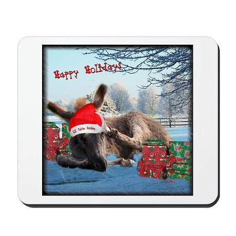Lil Santa Donkey Mousepad