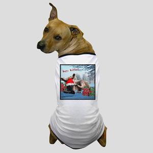 Lil Santa Donkey Dog T-Shirt