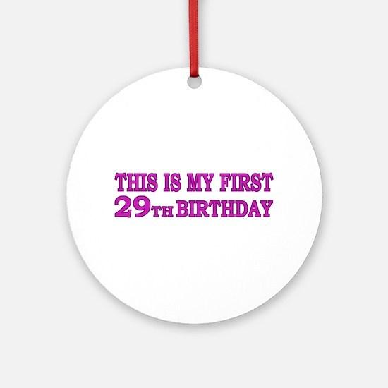 29th Birthday Ornament (Round)