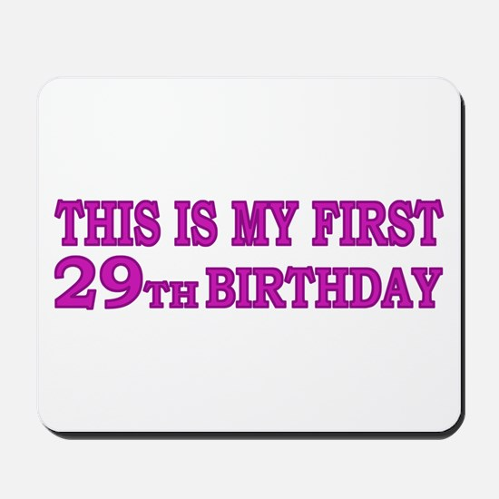 29th Birthday Mousepad