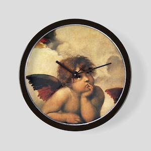 Angels by Raphael Wall Clock