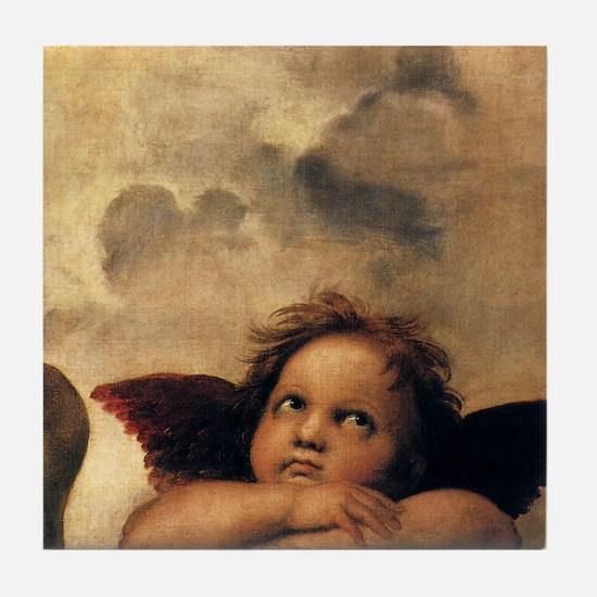Angels by Raphael Tile Coaster