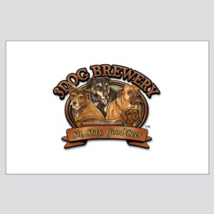 3 Dog Brewery Large Poster