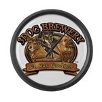3 Dog Brewery Large Wall Clock