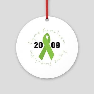Lyme Disease Survivor Ornament (Round)