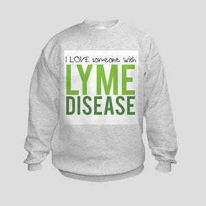 I Love Someone With Lyme Disease Kids Sweatshirt