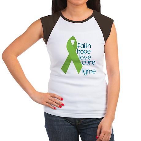 Lyme Disease Hope 4 Cure Women's Cap Sleeve Tshirt