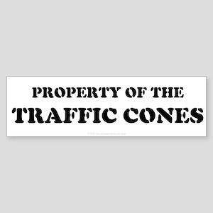 Traffic Cones Property. Bumper Sticker