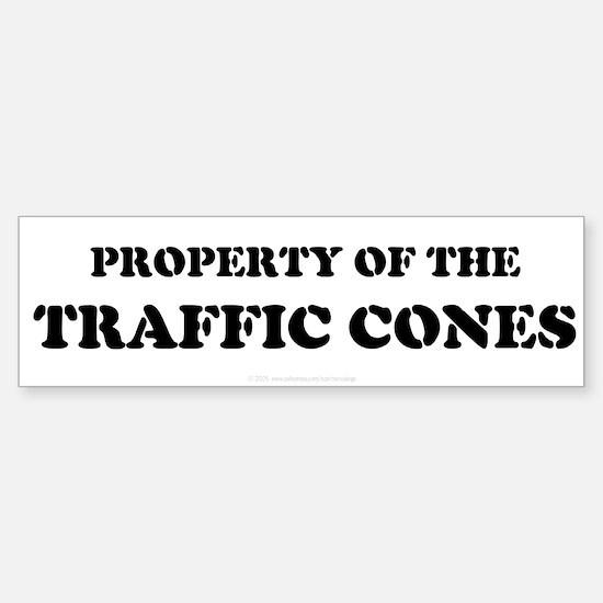 Traffic Cones Property. Bumper Bumper Bumper Sticker