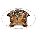 3 Dog Brewery Oval Sticker