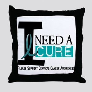 I Need A Cure 1 Cervical Cancer Throw Pillow