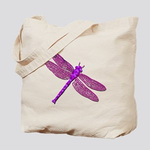 Pink Dragonfly Tote Bag