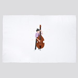 Jazz Musician Jazz Band Lover 4' x 6' Rug