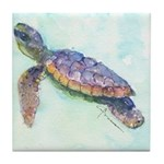 Sea Turtle No. 28 Tile Coaster