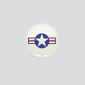 US USAF Aircraft Star Mini Button