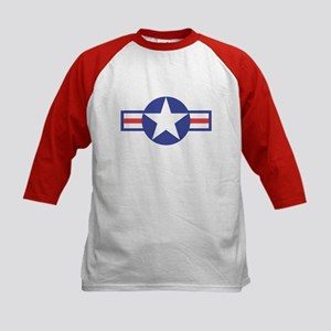 US USAF Aircraft Star (Front) Kids Baseball Jersey