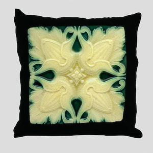 Art Nouveau Wall Tile 18x18 Throw Pillow