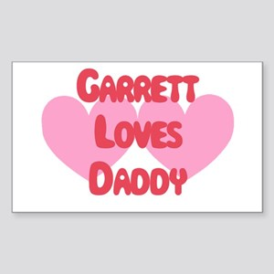 Garrett Loves Daddy Rectangle Sticker