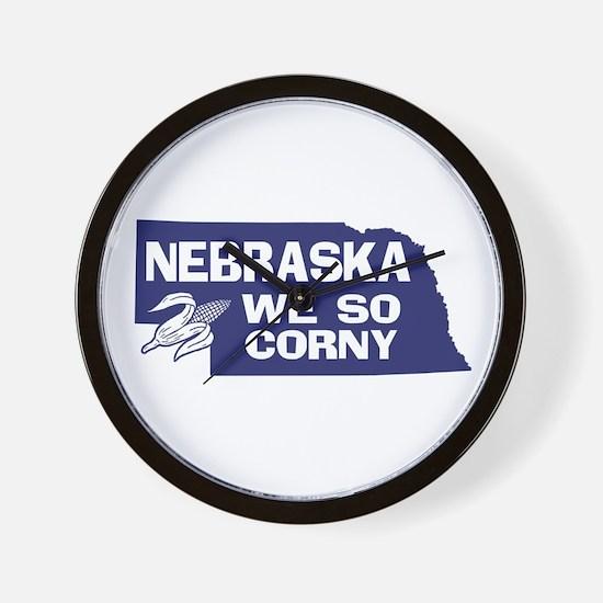 Nebraska Wall Clock
