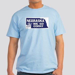 Nebraska Ash Grey T-Shirt